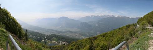 Vista della lago di Lagolo da Monte Bondone